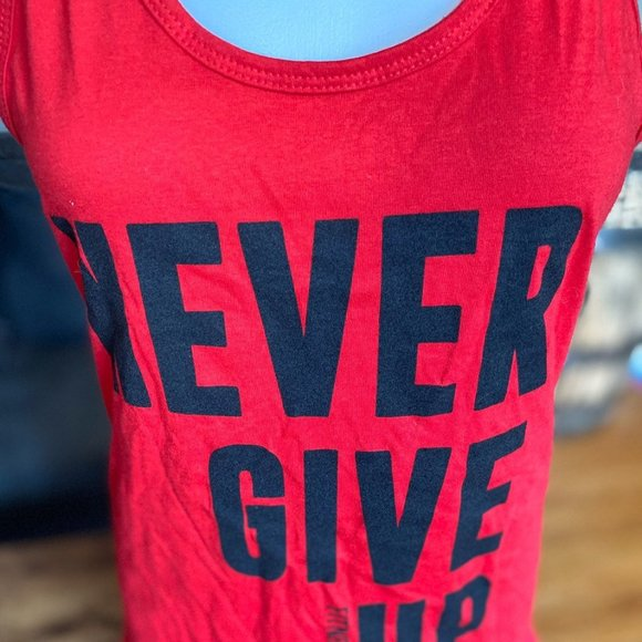 Fitness Gear Tops - Never Give Up Fitness Tank